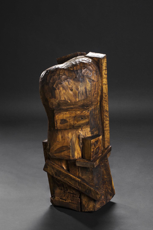 Erlend Leirdal, Hemmelighet, 2016. Skulptur – diverse tre. Foto: Lykt AS