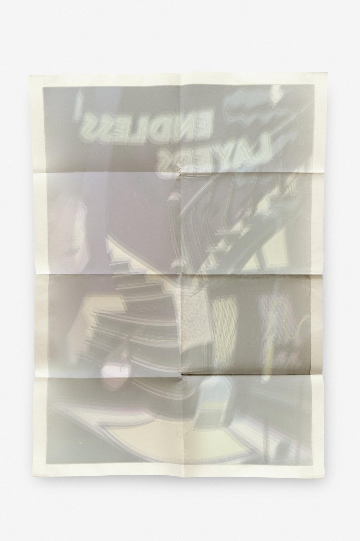 Lars Morell,  Blekk på papir . UV herdet print på aluminium. Foto: Susanne Grina Lange, NIA