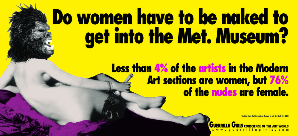 Copyright © Guerrilla Girls, courtesy  guerrillagirls.com