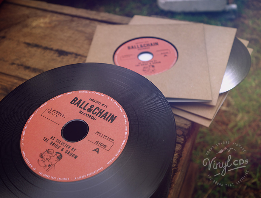 RED Vintage Vinyl CD Wedding Favor Invite Unique wedding favour
