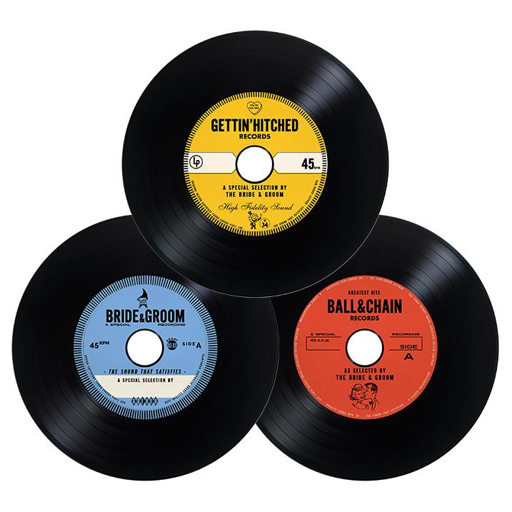 Combo Vintage Vinyl Cd Wedding Favor Invite Unique
