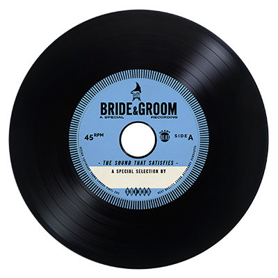 Vintage Vinyl CDs Unique wedding favor ideas wedding invitations