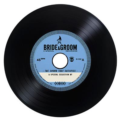 BLUE Vintage Vinyl CD Wedding Favor / Invite — Unique ...