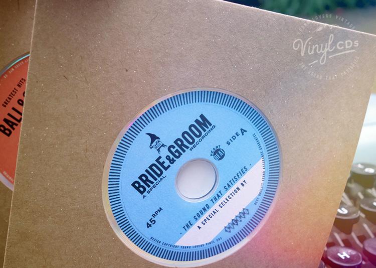BLUE Platinum Vinyl CD Wedding Favor Invite