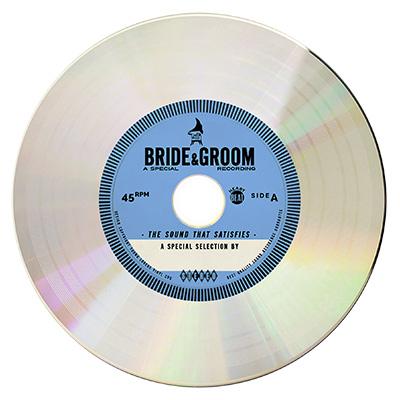 BLUE Platinum Vinyl CD Wedding Favor Invite Unique wedding
