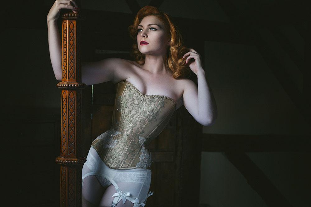 Golden girl corset