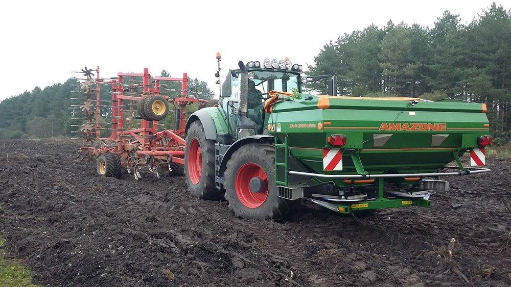 Ground preparation as part of heathland creation