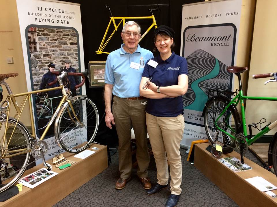 Trevor Jarvis and Liz Colebrook at Bespoked 2017 - Bristol.