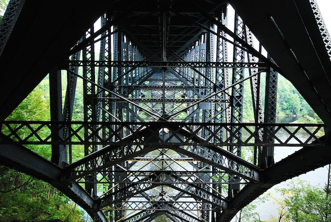 Under the French King Bridge, Northfield, MA