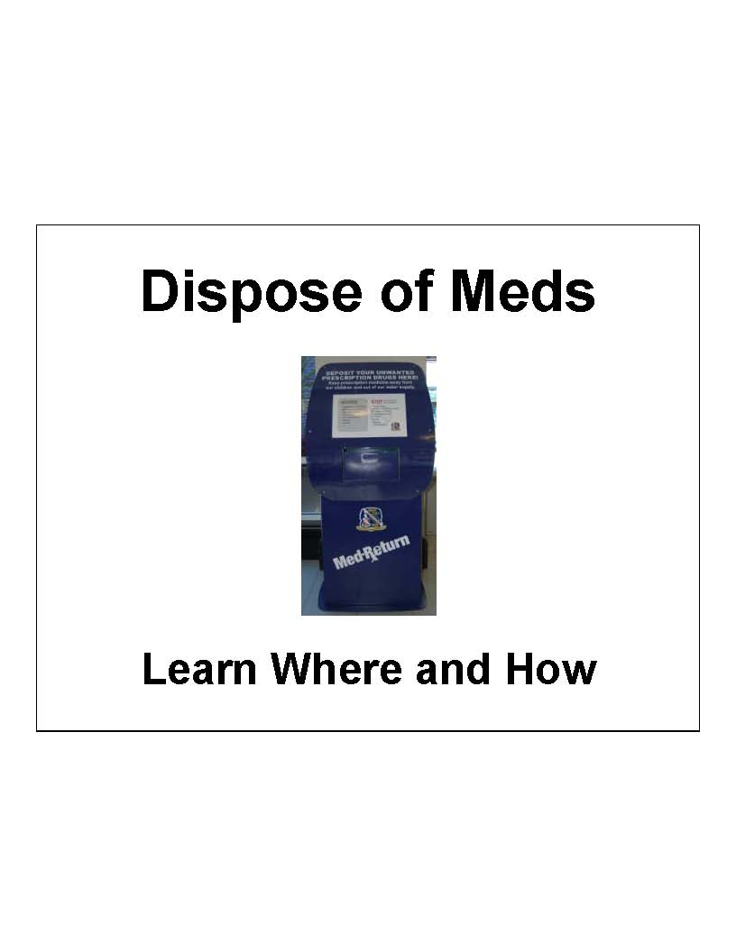 Permanent Medication Disposal Boxes