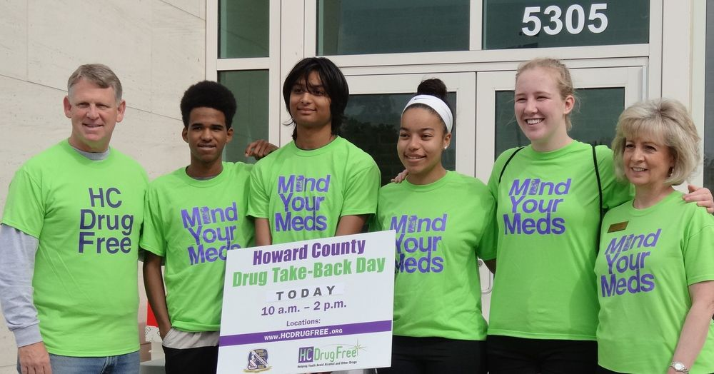 County Executive Allan Kittleman, HC DrugFree's Teen Advisory Council Members, and Joan Webb Scornaienchi, HC DrugFree's Executive Director
