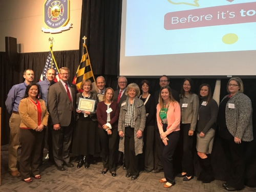 Pictured: Howard County's Team with State Representatives