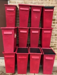 18 bins of sharps