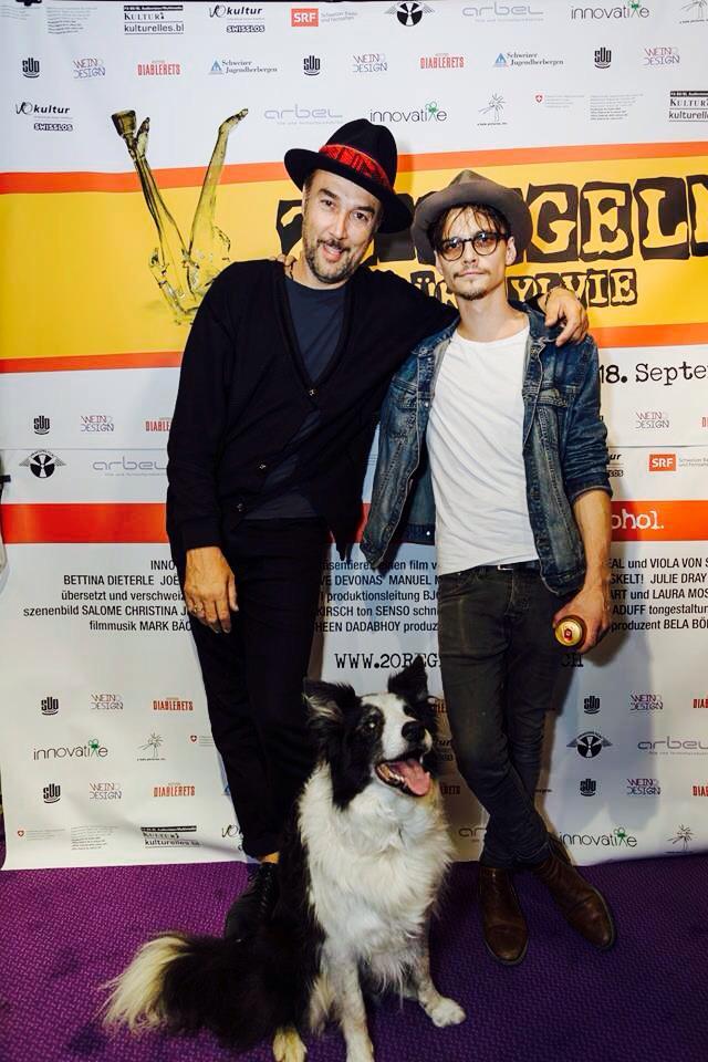 """Carlos Leal & Julian Koechlin an der Schweizer Premiere von """"20 Regeln für Sylvie"""" in Basel."""
