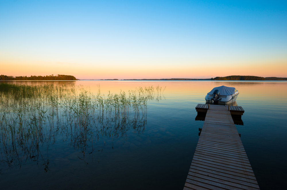Finnish lake and environment