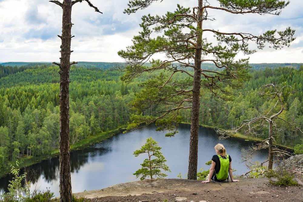 Finland nature cliff