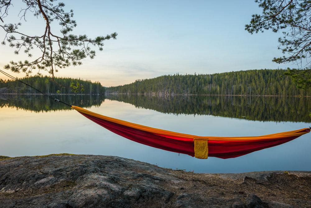 Finland lake hammock