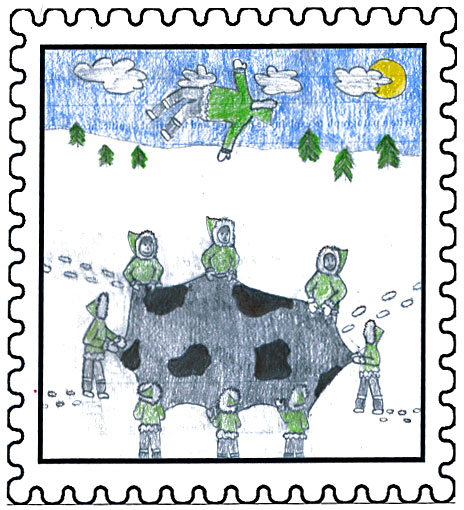 Labrador East Winner   Blanket Toss Fun!  by  Angelica Vincent  Aged: 13, Grade: 8 Amos Comenius Memorial School