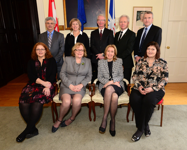 Some members of the HSA Board of Director's who attended the 22nd Manning Awards, pictured at the post-ceremony reception at Government House.