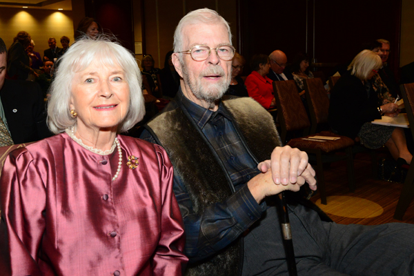 The Honourable John C. Crosbie, former Lieutenant Governor of Newfoundland and Labrador, and past patron of the Manning Awards, was in attendance at the 22nd Manning Awards as patron of the Home from the Sea Sealers Memorial. Mr. Crosbie was accomapnied by his wife, Mrs. Jane Crosbie