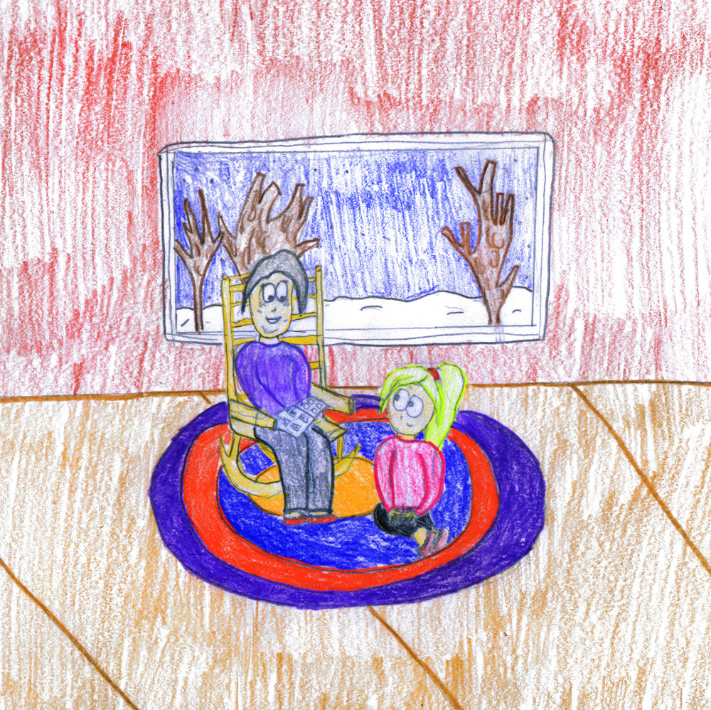 Labrador Winner -  Junior Division    Reading Together  by  Michaela Hodder  Grade 8, Eric G. Lambert School
