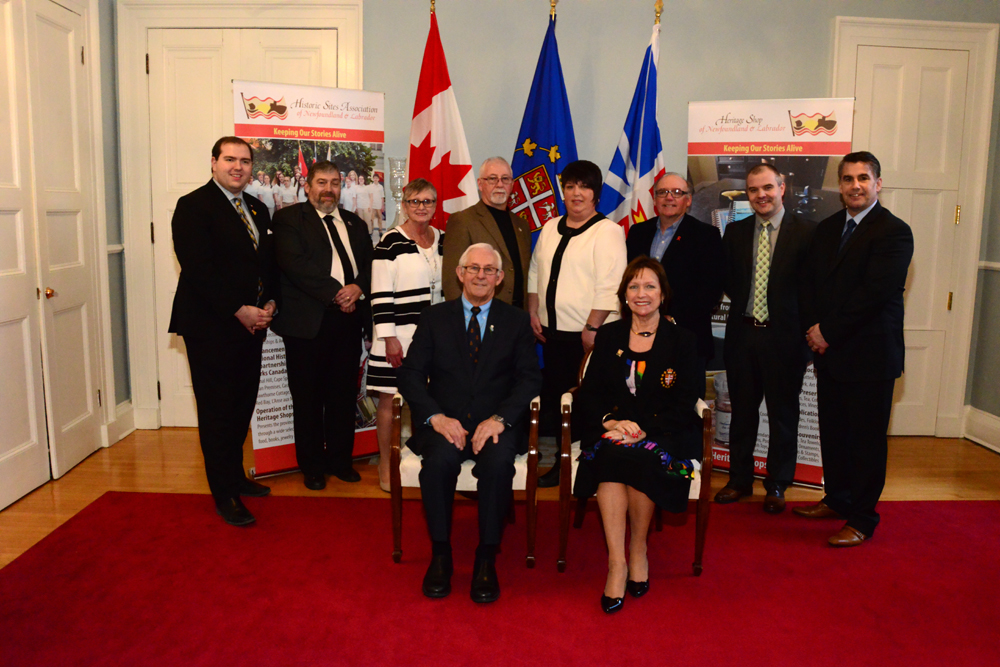 St. Gabriel's Hall Inc. and government representatives at the Government House reception with Their Honours