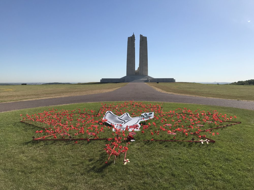 The Vimy ridge memorial in France