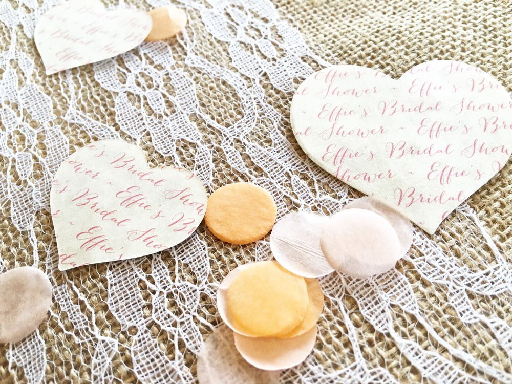 PERSONALIZED CONFETTI HEARTS