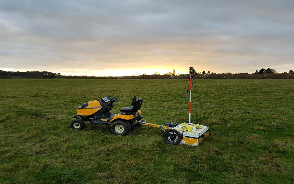 SUMO's High Density Ground Penetrating Radar equipment at Branodunum.
