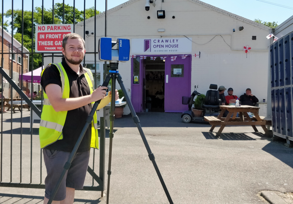 Laser scanning the Crawley Open House