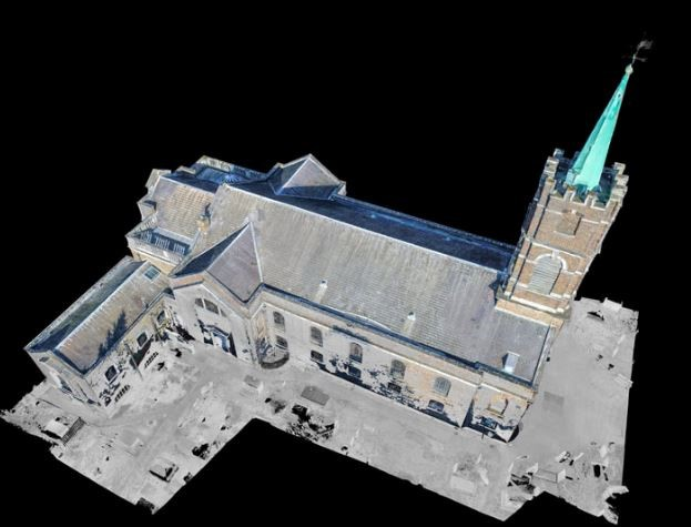 Deliverables  A land survey, detailed roof plan and 2D elevations of the church were provided to the church.