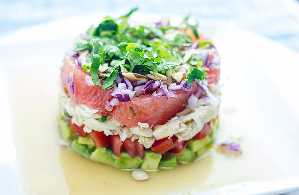 Layered Crab Salad | flavortheory.com