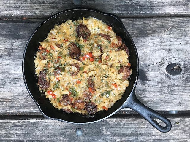 I made this yummy breakfast casserole outdoors on my first Oregon camping trip! Check out my latest Instagram story to peek at behind-the-scenes captures.