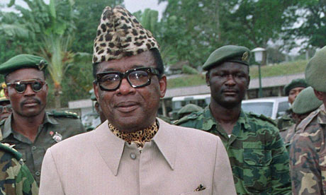 Mobutu Sese Seko, former dictator of the Democratic Republic of Congo (DRC)
