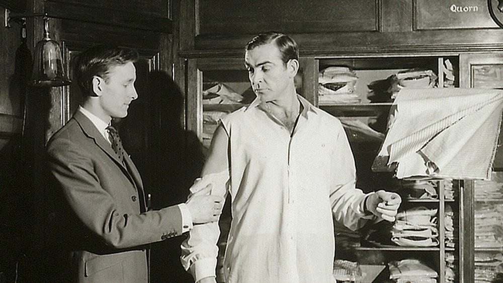 Sean Connery in the Turnbull & Asser fitting room, 1962.
