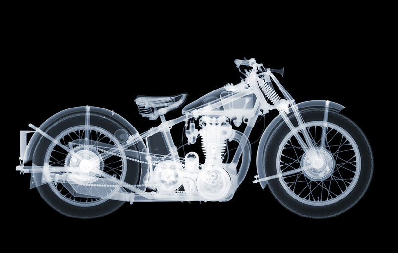 Nick Veasey - Matchless Motorbike, Edition of 5, 230 × 118 cm