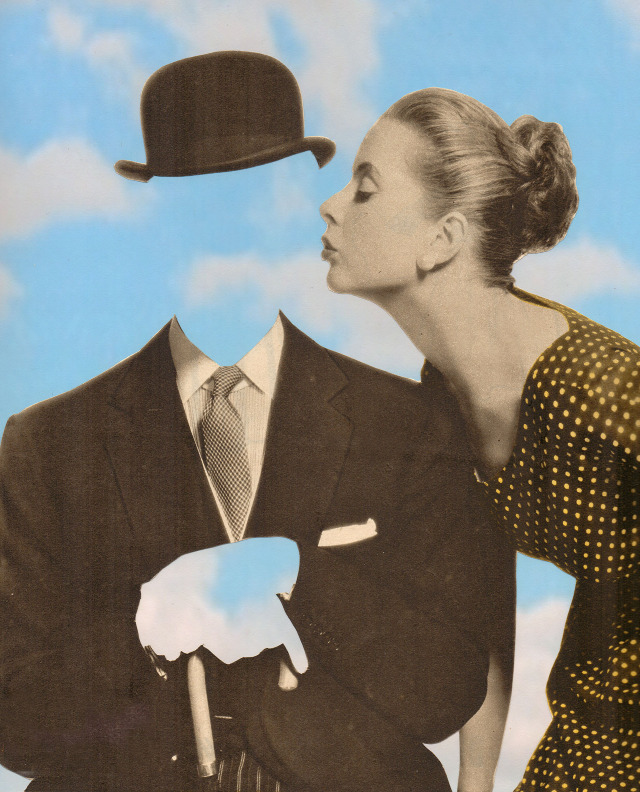 Joe Webb, Kissing Magritte II, 14 Colour Screenprint on Somerset Tub-Sized 410gsm 46 x 55cm, Edition of 125