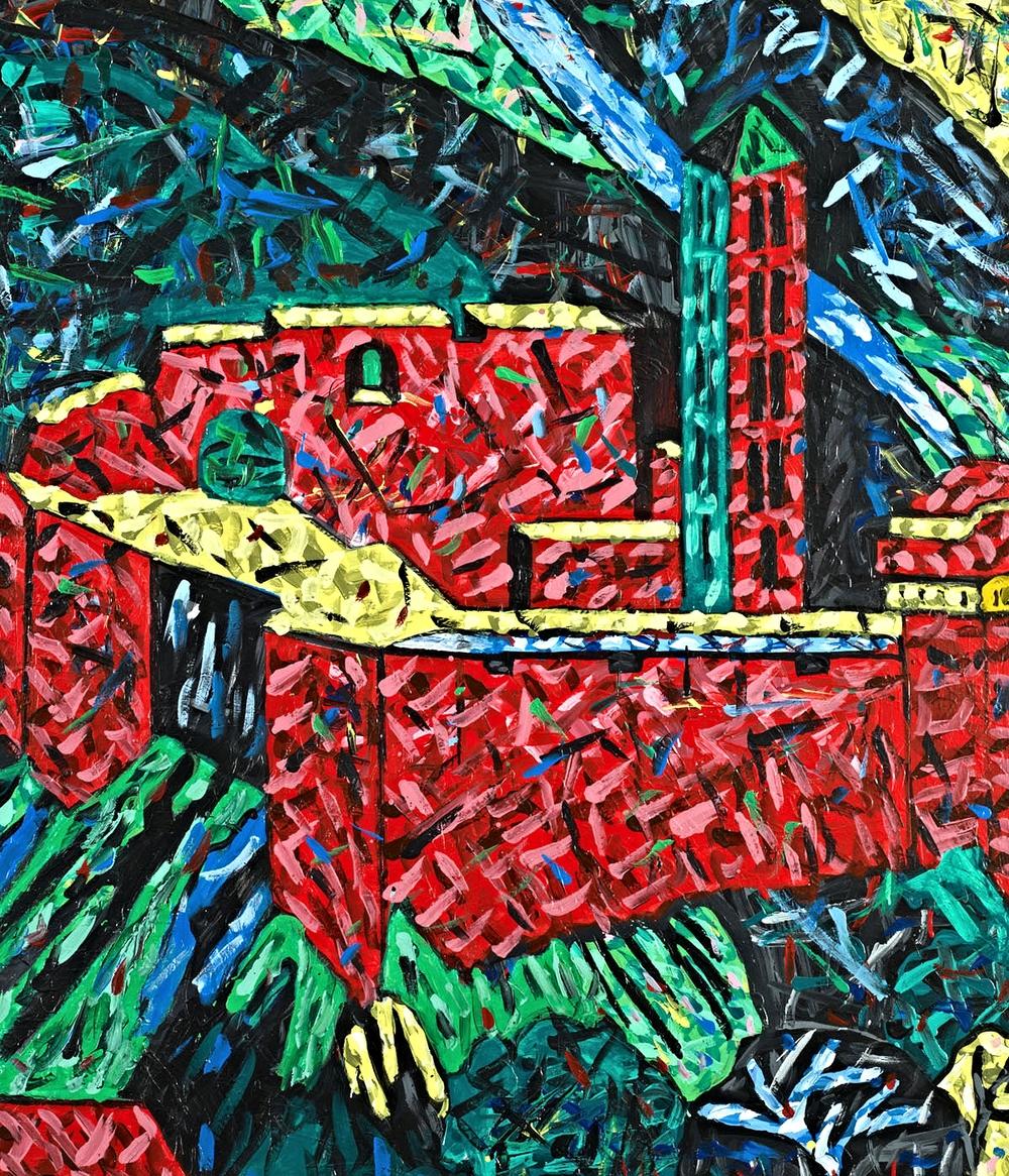 Zyklus XXXIIa, 54 (Gesamtansicht der Burgruine 2), 2000