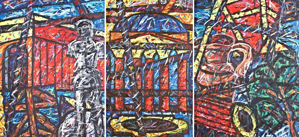 Triptychon 3 (Die Werkstatt des Bildhauers 60), 1996