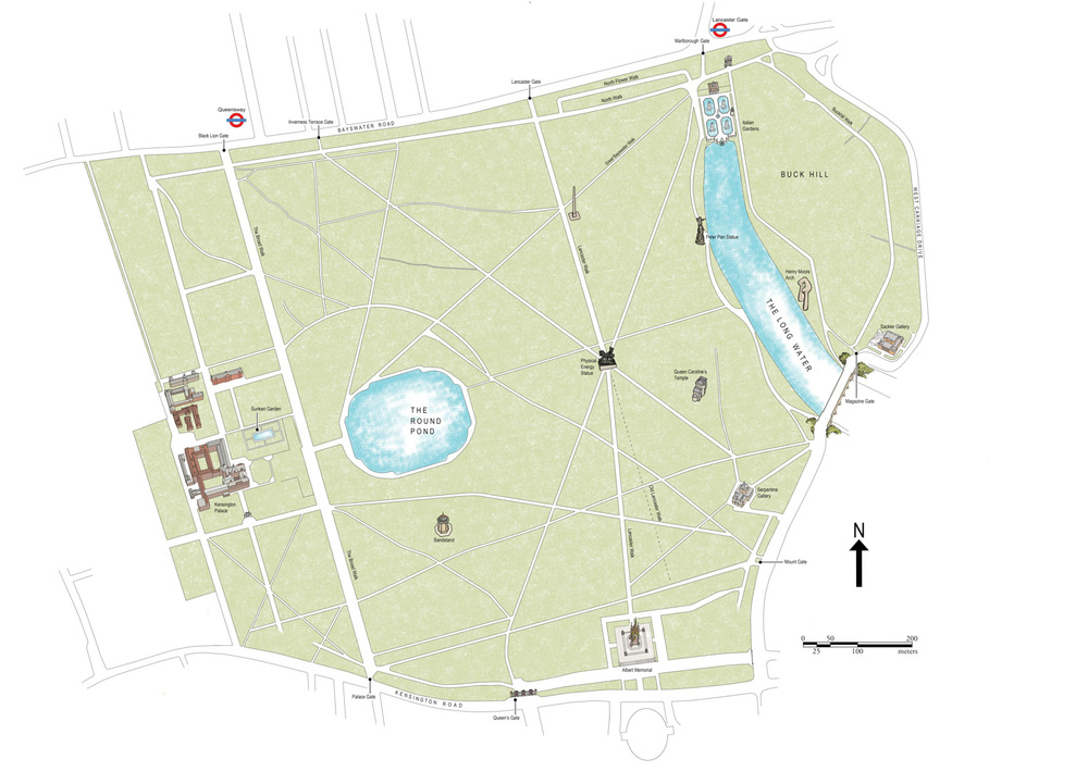 Kensington Gardens Map