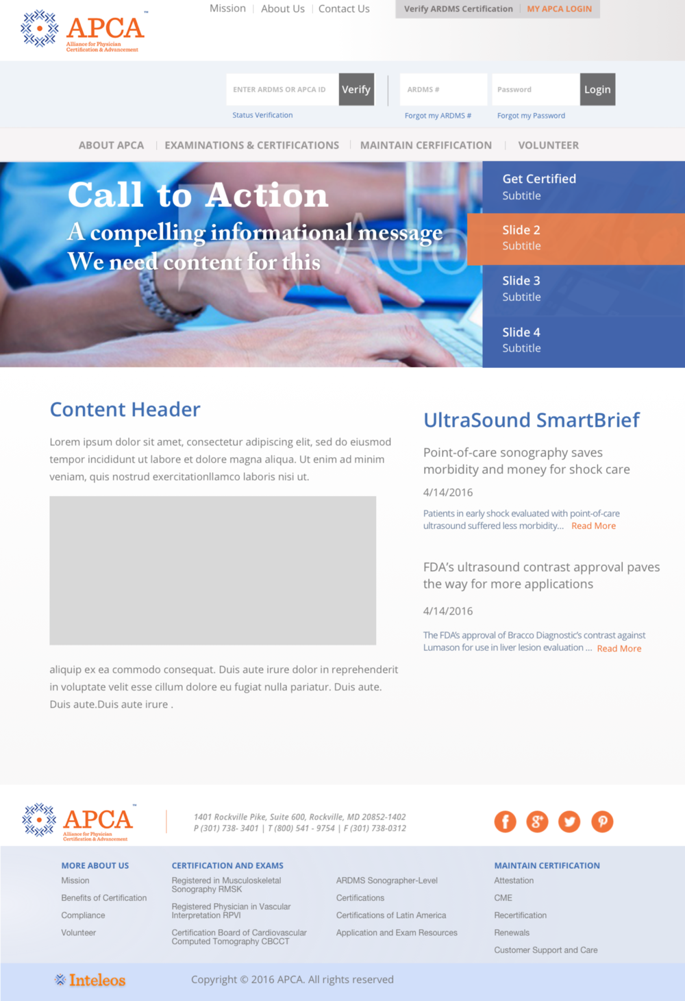 This is a design we created for the header section of the APCA index page