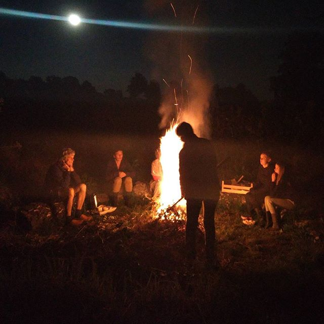 Feeling at home with my Dutch family talking about Canada and the mystical creature that is the raccoon.  #gelderland #netherlands #farm #farmlife #floristvacay #fire #bonfire #clogs