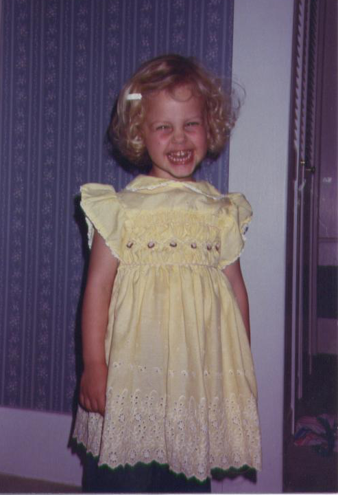 I was significantly younger than 3rd grade in this picture, but look at those curls!