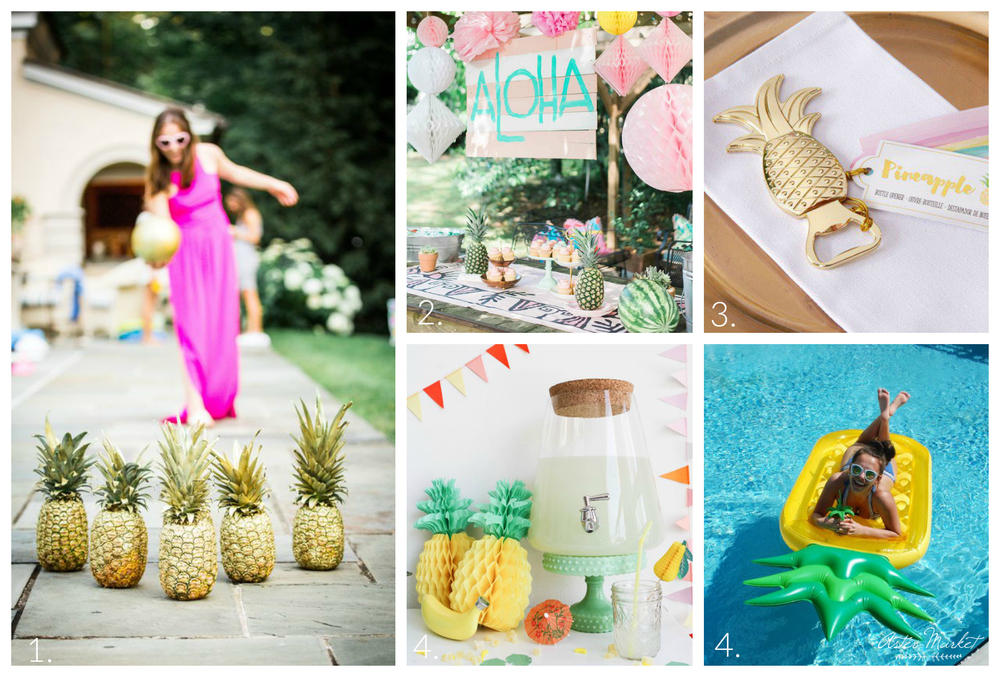 Aster Market Entertaining Style: Pineapple Pool Party