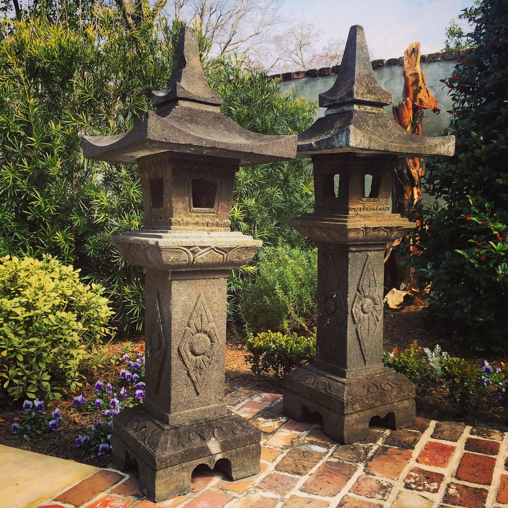 Antique Carved Stone Pagoda 1_Charleston Garden Works.