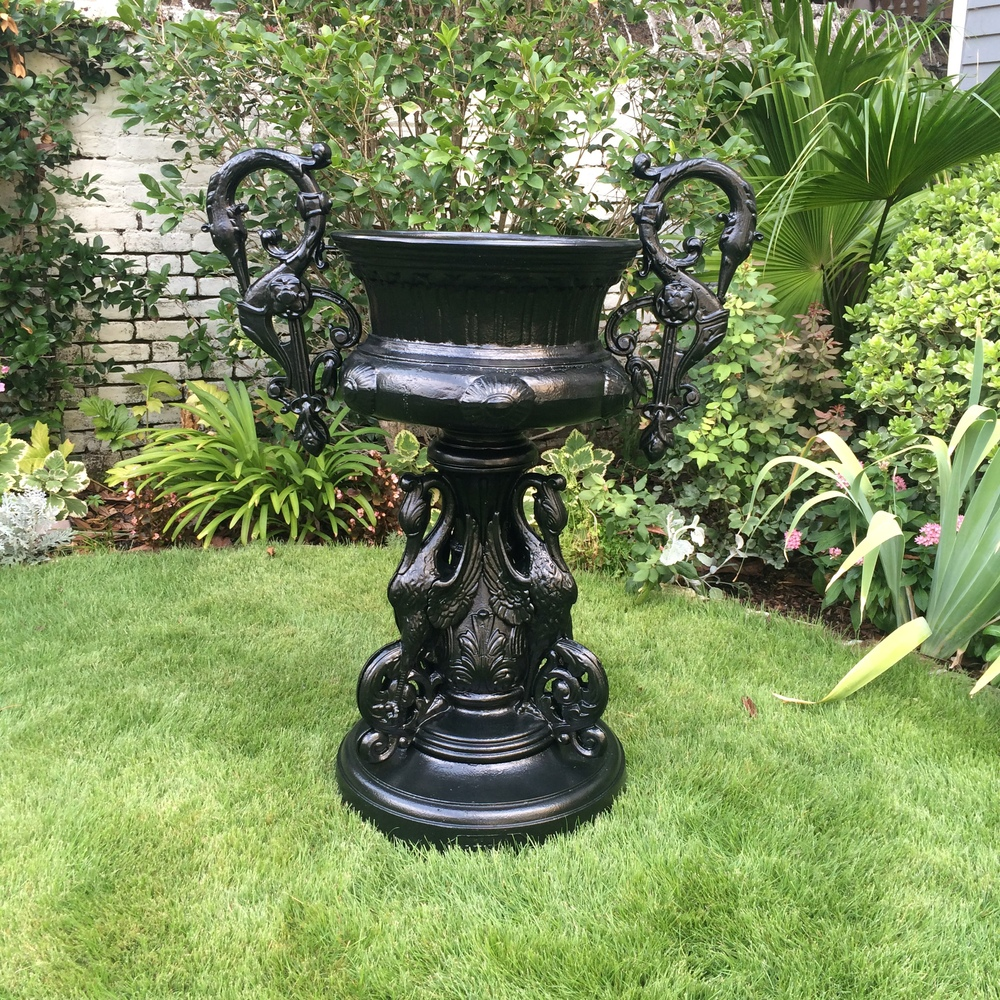 19th Century Kramer Brothers Cast Iron Urn 1_Charleston Garden Works.