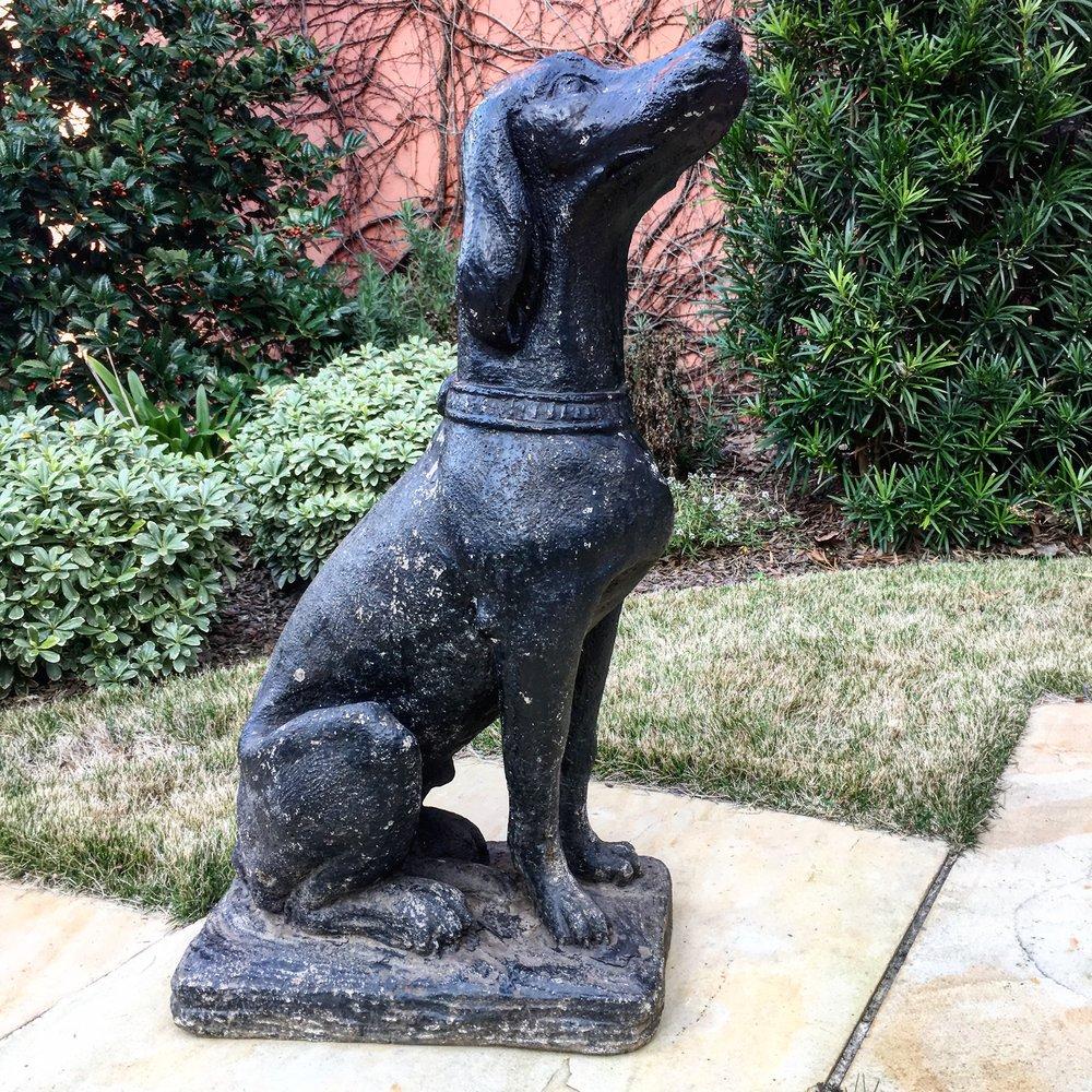 Cast Stone Dog Statue 1_Charleston GardenWorks.