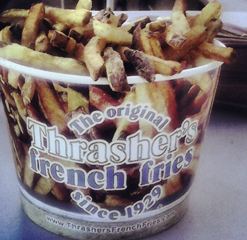 Bonus points to anyone who serves their fries in a bucket.