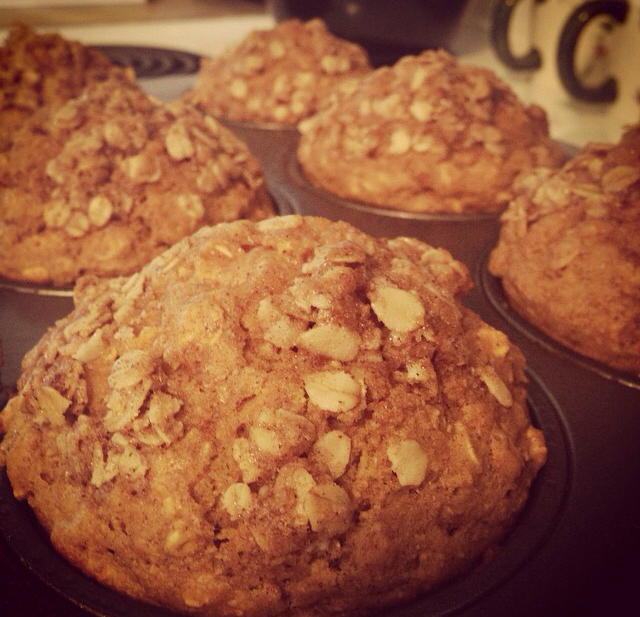 Pumpkin muffins! These are made with rolled oats, not oat flour!