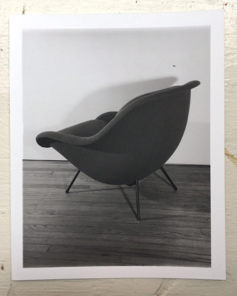 Leg Show Silver Gelatin Print Unknown French Lounge Chair